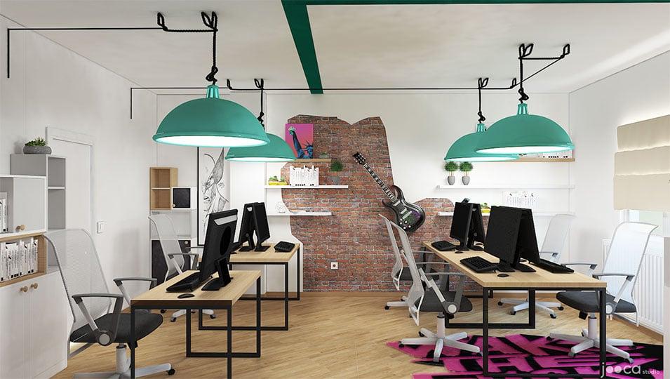 Spatiu de birouri este colorat si tineresc