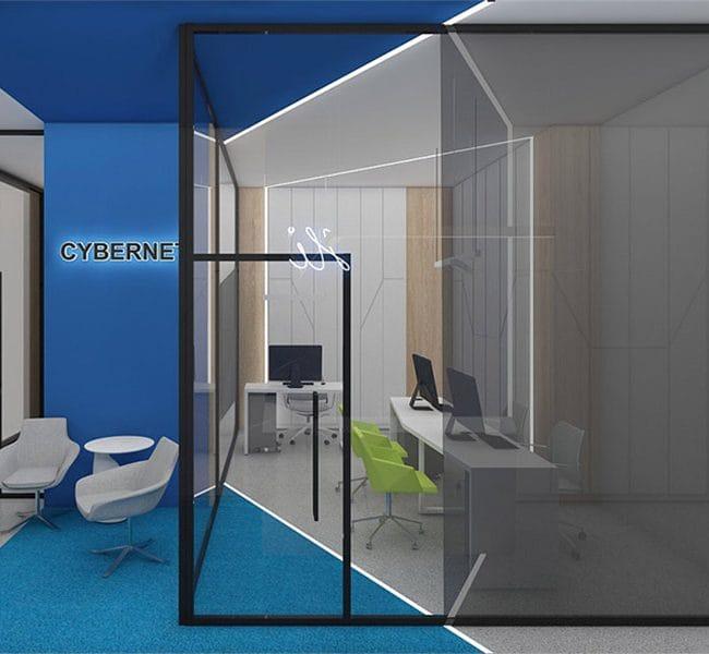 design futurist in birourile Cybernet