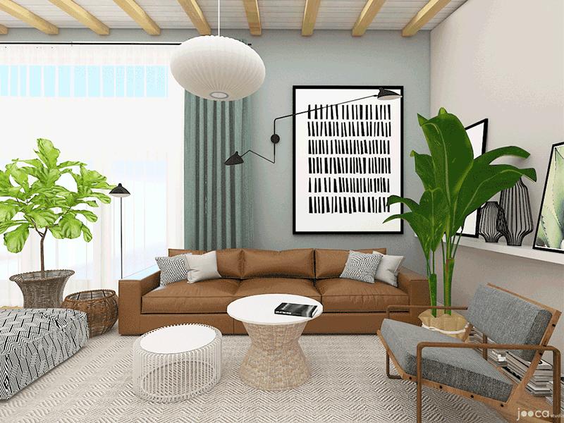 Amenjarare casa in stil scandinav, cu accente de lemn si culori neutre