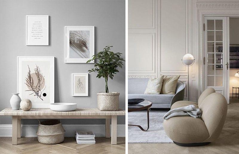 Dupa cum spuneam, minimalismul asa cum il intelegem acum, nu are legatura cu stilul de design interior. Acesta va potenta estetica oricarui stil, pentru ca va crea spatiu ca esentialul sa iasa in evidenta.  Sursa foto: https://desenio.com/