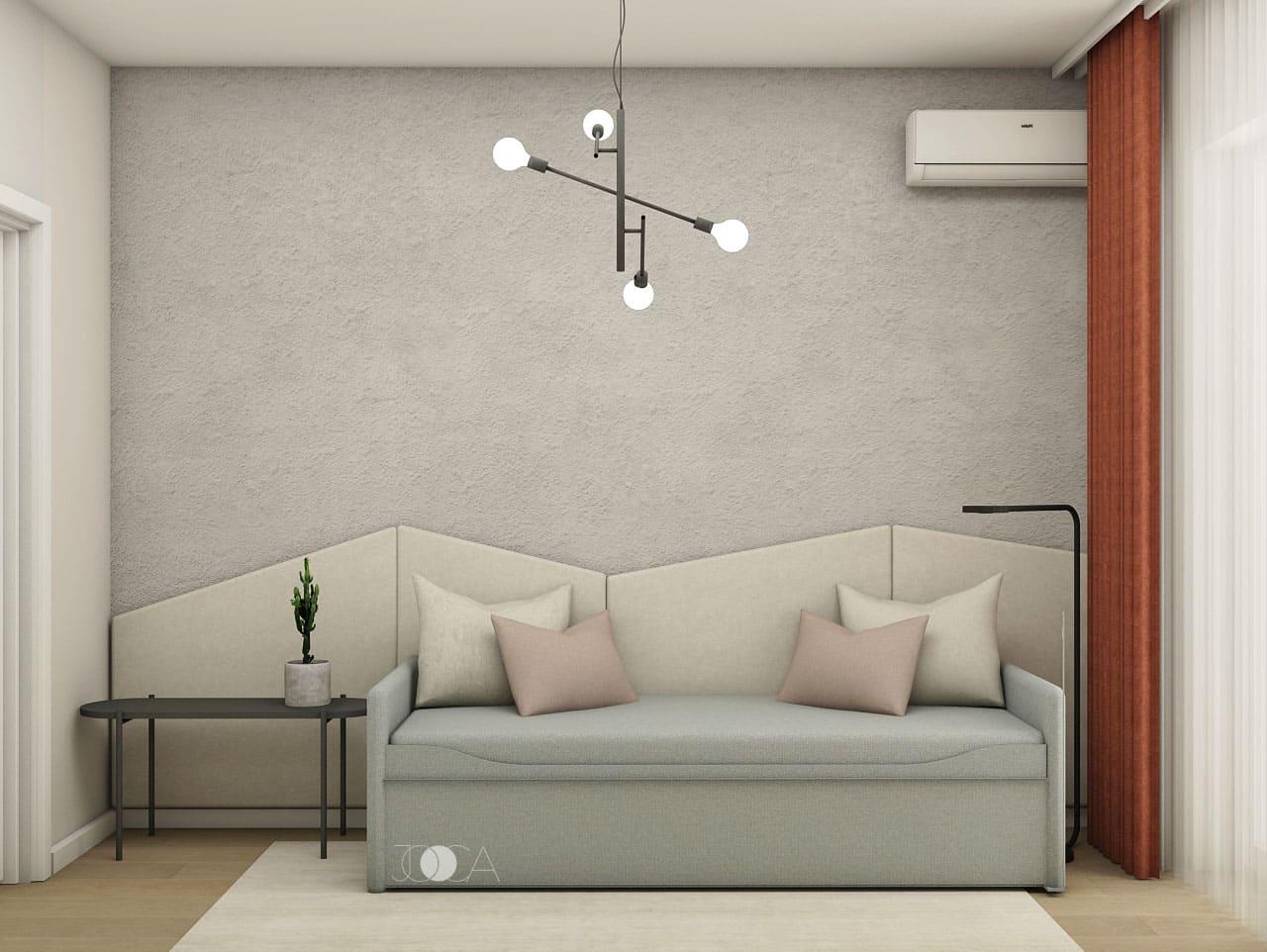 Alegerea unui divan extensibil este foarte utila pentru a transforma birou in camera pentru oaspeti.