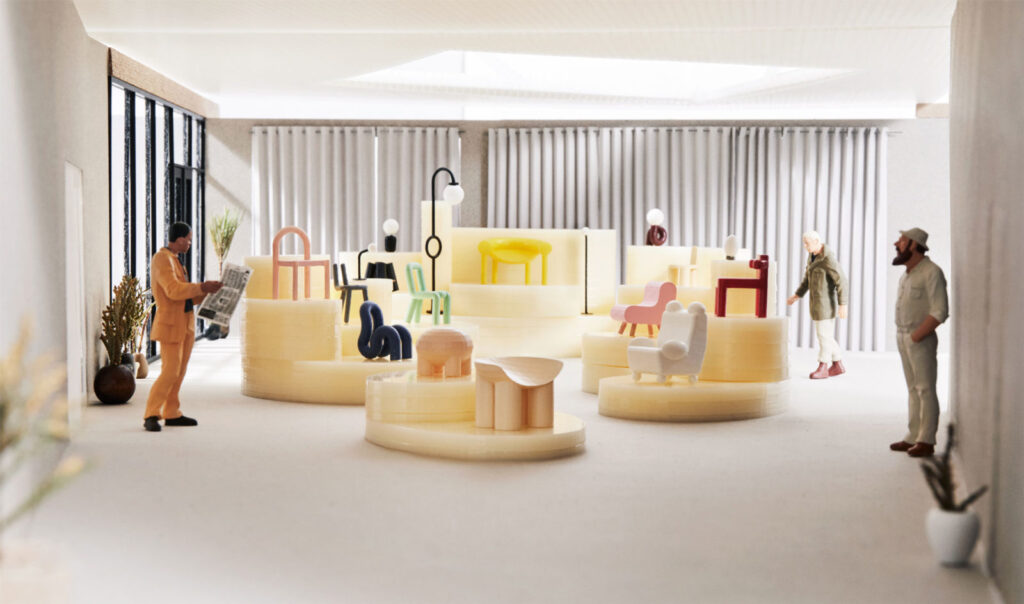 Expoziția de obiecte de design neotenic realizată de studioul Jumbi in 2019, in New York